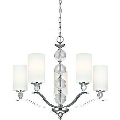 Dugas 5-Light Shaded Chandelier Bulb Type: 100W A19 Medium