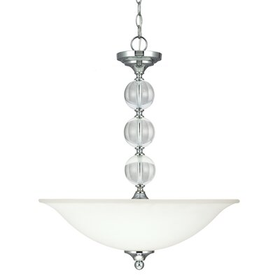 Astoria 3-Light Bowl Pendant Bulb Type: 100W A19 Medium