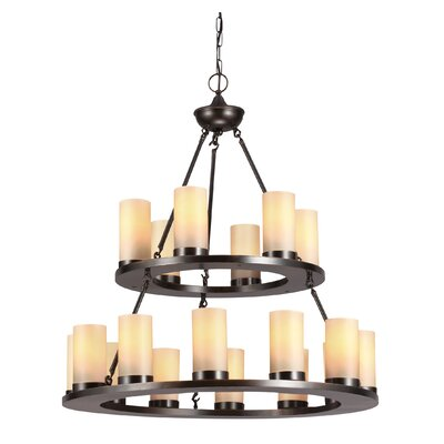Carwile 18-Light Candle-Style Chandelier