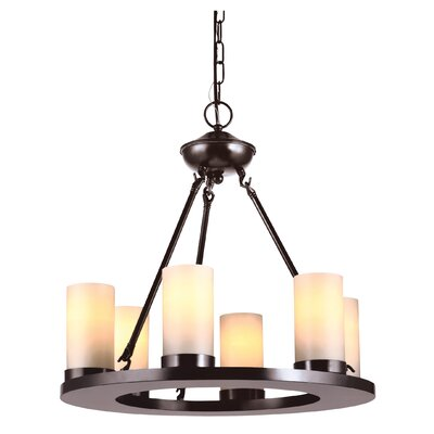 Carwile 6-Light Candle-Style Chandelier