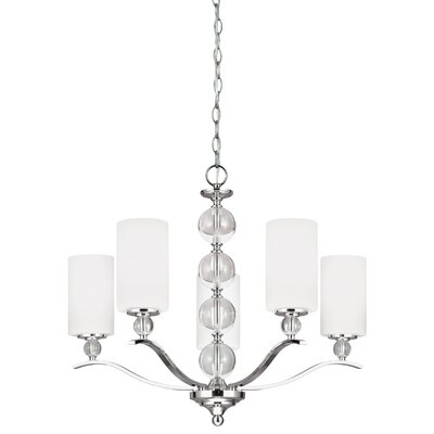 Dugas 5-Light Shaded Chandelier