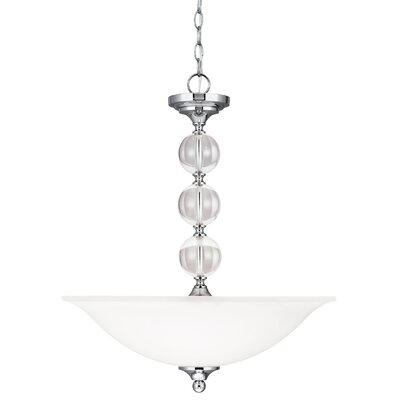 Dugas 3-Light Bowl Pendant