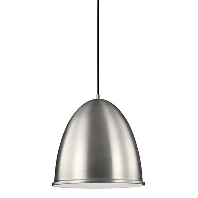 Darrington 1-Light Inverted Pendant Finish: Satin Aluminum
