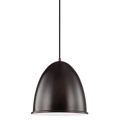 Darrington 1-Light Inverted Pendant Finish: Burnt Sienna
