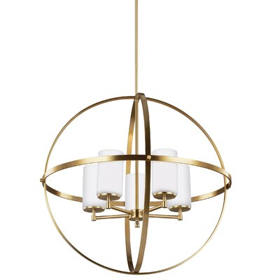 Haworth 5-Light Shaded Chandelier Finish: Satin Bronze