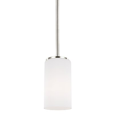 Haworth 9W 1-Light Mini Pendant Finish: Brushed Nickel