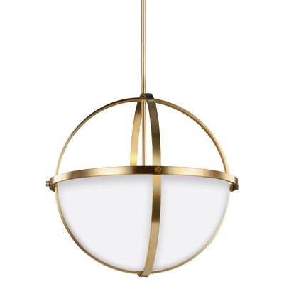 Haworth 3-Light Bowl Pendant Finish: Satin Bronze