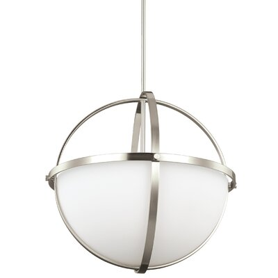 Haworth 3-Light Bowl Pendant Finish: Brushed Nickel