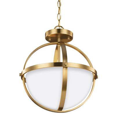 Haworth 2-Light Bowl Pendant Finish: Satin Bronze