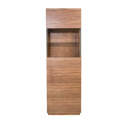 Simmons Display Cabinet Color: Walnut