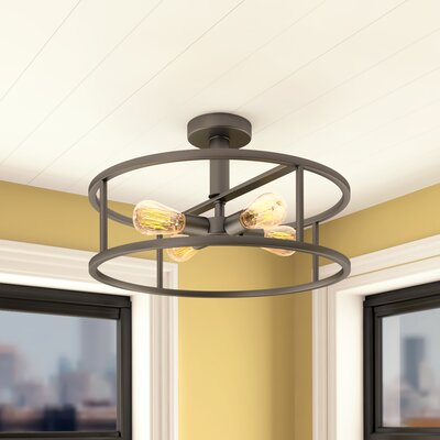 Sargeant 4-Light Semi Flush Mount