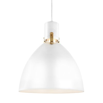 Triangulum 1-Light LED Mini Pendant Finish: Flat White, Size: 17 H x 14 W x 14 D