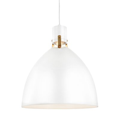 Triangulum 1-Light LED Mini Pendant Finish: Flat White, Size: 19 H x 16.5 W x 16.5 D