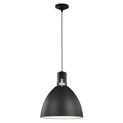 Triangulum 1-Light LED Inverted Pendant Finish: Matte Black, Size: 17 H x 14 W x 14 D