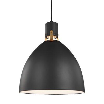 Triangulum 1-Light LED Mini Pendant Finish: Matte Black, Size: 19 H x 16.5 W x 16.5 D