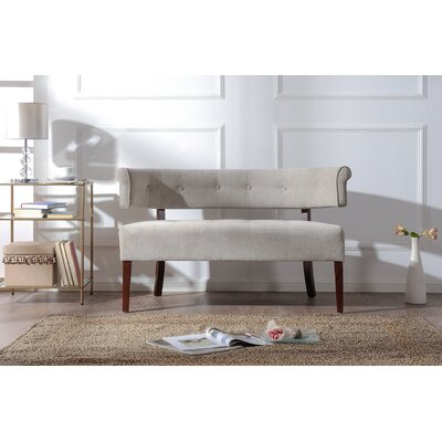 Veney Tufted Bench Settee Upholstery: Silver Grey