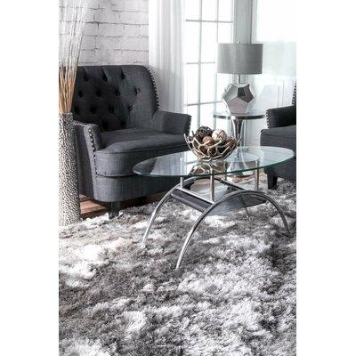 Sisyphus Hand-Woven Silver Area Rug Rug Size: 4 x 6