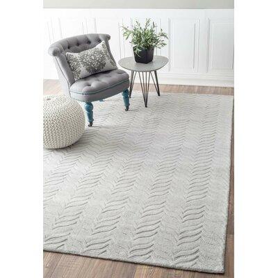 Lipford Hand-Woven Gray Area Rug Rug Size: 5 x 8