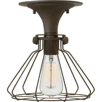 Bunnell Contemporary 1-Light Metal Semi Flush Mount Finish: Oil Rubbed Bronze