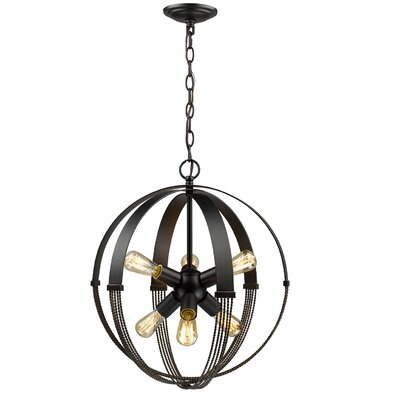 Branscome 6-Light Globe Pendant
