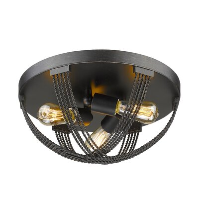 Branscome 3-Light Flush Mount