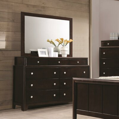 Elton 9 Drawer Dresser with Mirror