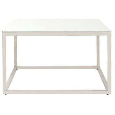 Bonanno Stainless Steel Coffee Table Top Finish: White