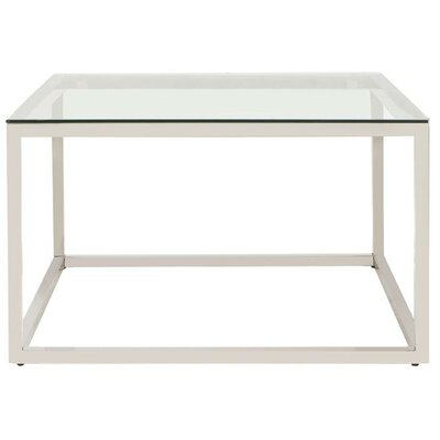 Bonanno Stainless Steel Coffee Table Top Color: Clear