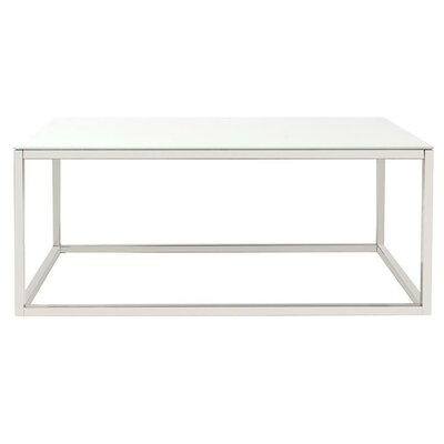 Buffington Stainless Steel Coffee Table Top Finish: White