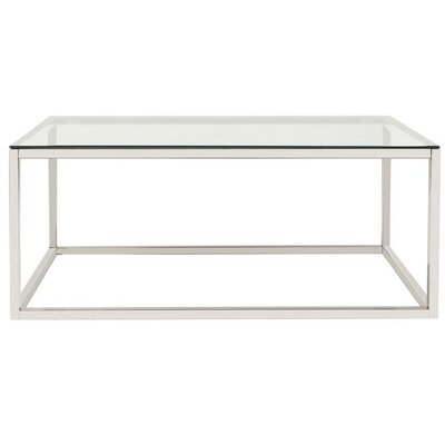 Kenyon Stainless Steel Coffee Table Top Finish: Clear