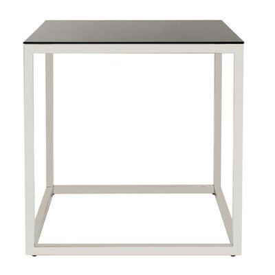 Rossi Square Stainless Steel End Table Color: Black