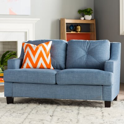 Darion Loveseat Upholstery: Light Blue