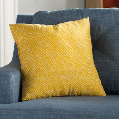 Dicken Throw Pillow Color: Saffron Yellow