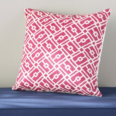 Ellefson Cotton Throw Pillow Color: Azalea, Size: 18x18