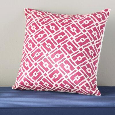 Ellefson Cotton Throw Pillow Color: Azalea, Size: 20 x 20