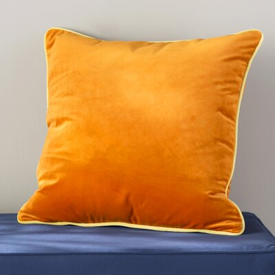 Douglas Forge Solid Decorative Throw Pillow Color: Orange