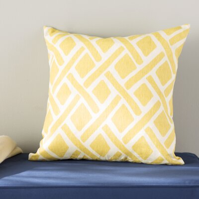 Moton Geometric Linen Throw Pillow Color: Sunflower, Size: 18x18