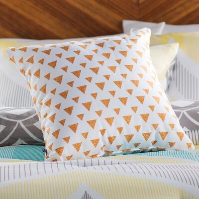 Mouton Glitter Triangles Outdoor Throw Pillow Size: 16 H x 16 W x 4 D
