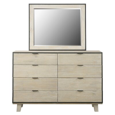 Sidney 8 Drawer Dresser with Mirror