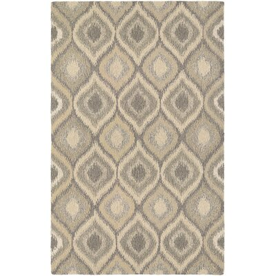 Lorentz Hand Woven Wool Cream/Brown Area Rug Rug Size: Rectangle 9'6