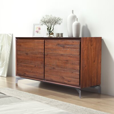 Riggleman 6 Drawer Double Dresser