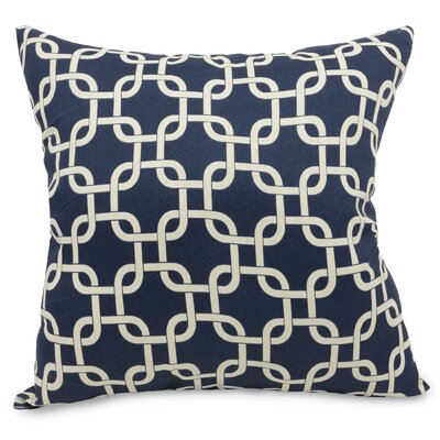 Banas Indoor/Outdoor Throw Pillow Fabric: Navy Blue, Size: Extra Large