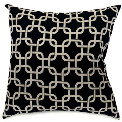 Banas Indoor/Outdoor Throw Pillow Fabric: Black, Size: Extra Large