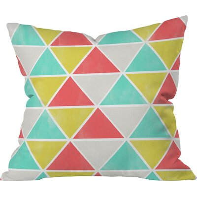 Ang Summer Triangles Indoor/outdoor Throw Pillow Size: Large