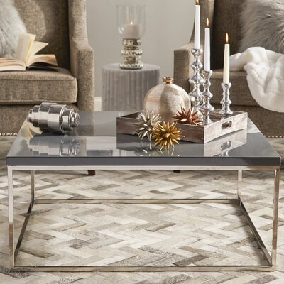 Mia Coffee Table Color: Gray Lacquer