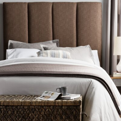 Franklin Square Valinda Upholstered Panel Headboard Size: Queen, Upholstery: Chocolate Brown