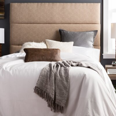 Franklin Square Hastings Upholstered Panel Headboard Size: King, Upholstery: Beige
