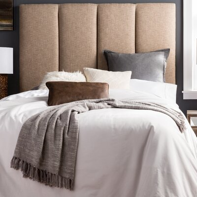 Franklin Square Valinda Upholstered Panel Headboard Size: Queen, Upholstery: Beige