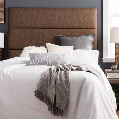 Franklin Square Hastings Upholstered Panel Headboard Size: King, Upholstery: Chocolate Brown