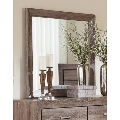 Gutierrez Rectangle Wood Mirror